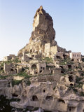 Town and Castle Ruins, Ortahisar, Near Urgup, Cappadocia, Anatolia, Turkey, Eurasia Photographic Print by Adam Woolfitt
