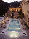 Swimming Pool, Samode Palace Hotel, Samode, Rajasthan State, India Photographic Print by John Henry Claude Wilson