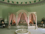Bedroom, the Shiv Niwas Palace Hotel, Udaipur, Rajasthan State, India Photographic Print by John Henry Claude Wilson