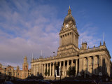 Town Hall, a Grand Victorian Building on the Headrow, Leeds, Yorkshire, England Photographic Print by Adam Woolfitt