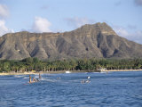 View of Diamond Head Crater, Oahu, Hawaii, Hawaiian Islands, USA Photographic Print by Alison Wright