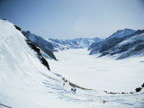 The Aletsch Glacier from Jungfraujoch, Swiss Alps, Switzerland Photographic Print by  R H Productions