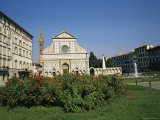 Square and Church of Santa Maria Novella, Florence, Tuscany, Italy Photographic Print by Ken Wilson