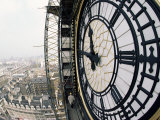 Close-Up of the Clock Face of Big Ben, Houses of Parliament, Westminster, London, England Fotografie-Druck von Adam Woolfitt