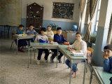 Village School Room, Crete, Greek Islands, Greece Photographic Print by Loraine Wilson