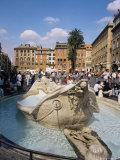 Dela Baraccia Fountain, Rome, Lazio, Italy Photographic Print by Ken Wilson