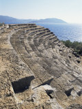 The 6th Century Greek Style Theatre of Psellus, Kas (Antiphellus), Anatolia, Turkey Photographic Print by Adam Woolfitt