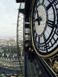Close-Up of the Clock Face of Big Ben, Houses of Parliament, Westminster, London, England Photographic Print by Adam Woolfitt