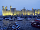 Caernarfon (Caernarvon) Castle, Unesco World Heritage Site, Gwynedd, Wales, United Kingdom Photographic Print by Adam Woolfitt