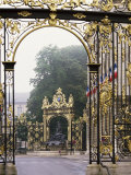 Wrought Iron by Lamor, Restored, Place Stanislaus, Nancy, Lorraine, France Photographic Print by Adam Woolfitt