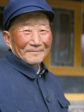 Portrait of a Han Farmer, Near Xining, Qinghai, China Photographic Print by  Occidor Ltd