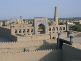 Overview of City from Walls, Khiva, Uzbekistan, Central Asia Photographic Print by  Occidor Ltd