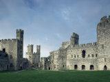 Caernarfon (Caernarvon) Castle, Unesco World Heritage Site, Gwynedd, Wales, United Kingdom Photographic Print by Adam Woolfitt