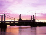 Dawn Over Battersea Power Station and Chelsea Bridge, London, England, United Kingdom Photographic Print by Nick Wood