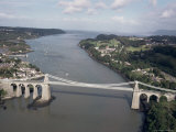 Menai Bridge, Wales, United Kingdom Photographic Print by Adam Woolfitt