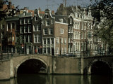 Junction of Reguliersgracht and Keizersgracht Canals, Amsterdam, Holland Fotografie-Druck von Adam Woolfitt