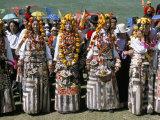 Women in Traditional Tibetan Dress, Yushu, Qinghai Province, China Photographic Print by  Occidor Ltd
