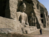 Yungang Buddhist Caves, Unesco World Heritage Site, Datong, Shanxi, China Photographic Print by Occidor Ltd
