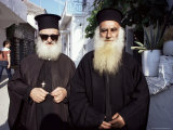Orthodox Priests, Parga, Greece Photographic Print by Loraine Wilson