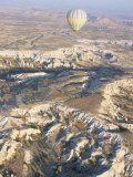 Hot Air Ballooning Over Rock Formations, Cappadocia, Anatolia, Turkey Photographic Print by Alison Wright