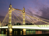 Albert Bridge, London, England, United Kingdom Photographic Print by Nick Wood