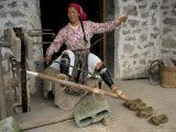 Woman Twisting Hemp, North Guangxi, China Photographic Print by  Occidor Ltd