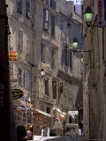 Narrow Street, Bonifacio, Corsica, France Photographic Print by Adam Woolfitt