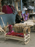 Wooden Baby Cots for Sale, Nukur Market, Uzbekistan, Central Asia Photographic Print by  Occidor Ltd