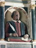 William Shakespeare's Bust, Holy Trinity Church, Stratford Upon Avon, Warwickshire, England Photographic Print by Adam Woolfitt