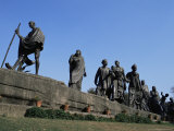 Mahatma Gandhi, the Eleven Statues, Delhi, India Photographic Print by John Henry Claude Wilson