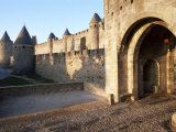Carcassonne, Unesco World Heritage Site, Aude, Languedoc-Roussillon, France Photographic Print by Adam Woolfitt