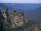 Three Sisters, Blue Mountains, Unesco World Heritage Site, New South Wales, Australia Photographic Print by Ken Wilson