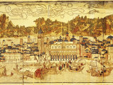 Early Panorama of Venice Dating from the 15th Century, Sansovino Library, Venice, Veneto, Italy Photographic Print by Adam Woolfitt