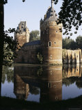 Reflection of Castle in the Moat, Beersel, Belgium Photographic Print by  R H Productions