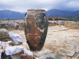 Bronze Age Food Storage Urn, Minoan Palace of Mallia, Dating from 1900 Bc, Crete, Greece Photographic Print by Loraine Wilson