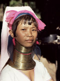Paduang Woman (Long-Necked People) (Long-Necked Karen), Thai/Burma Border Thailand Photographic Print by  Occidor Ltd