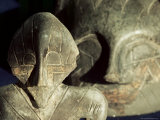 Close-Up of Carvings, Vinca Culture, Belgrade Museum, Serbia Photographic Print by Adam Woolfitt