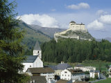Castle and Town, Tarasp, Switzerland Photographic Print by  R H Productions