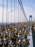 Runners, Marathon, New York, New York State, USA Photographie par Adam Woolfitt