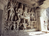 Ellora Caves, Unesco World Heritage Site, Maharashtra State, India Photographic Print by John Henry Claude Wilson