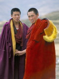 Monks of the Yellow Hat Sect at Garze, Sichuan Province, China Photographic Print by Occidor Ltd 
