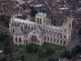 Aerial View of York Minster, York, Yorkshire, England, United Kingdom Photographic Print by Adam Woolfitt
