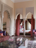 Bedroom Suite, Usha Kiran Palace Hotel, Gwalior, Madhya Pradesh State, India Photographic Print by John Henry Claude Wilson