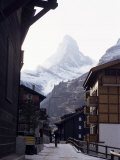 Zermatt and the Matterhorn, Swiss Alps, Switzerland Photographic Print by Adam Woolfitt