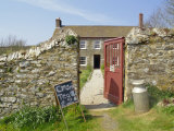Cream Teas Sign Outside Cornish Farmhouse, Near Fowey, Cornwall, England, UK Photographic Print by Nick Wood