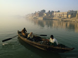 Rowing Boat on the River Ganges, Varanasi (Benares), Uttar Pradesh State, India Photographic Print by John Henry Claude Wilson