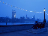 Houses and Parliament from Across the Thames, London, England, United Kingdom Photographic Print by Nick Wood