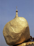 Golden Rock, the Balancing Boulder Temple of Kyaikbyo, Myanmar (Burma) Photographic Print by Alison Wright