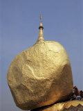 Golden Rock, the Balancing Boulder Temple of Kyaikbyo, Myanmar (Burma) Photographic Print by Alison Wright
