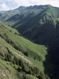 Near Narat, Tianshan (Tian Shan) Mountains, Xinjiang, China Photographic Print by  Occidor Ltd